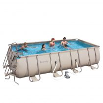 CASABLANCA 671x366x132 cm szögletes fémvázas medence SZETT