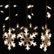 Hóesés fényfüggöny meleg fehér színben