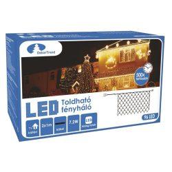 Toldható LED fényháló két méretben