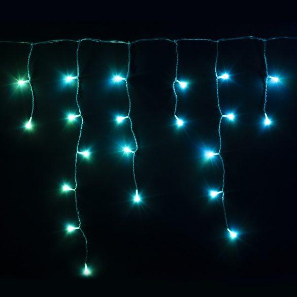 Twinkly okos jégcsapfüzér, 190 LED, 5 x 0,5 m, átlátszó kábel, RGB