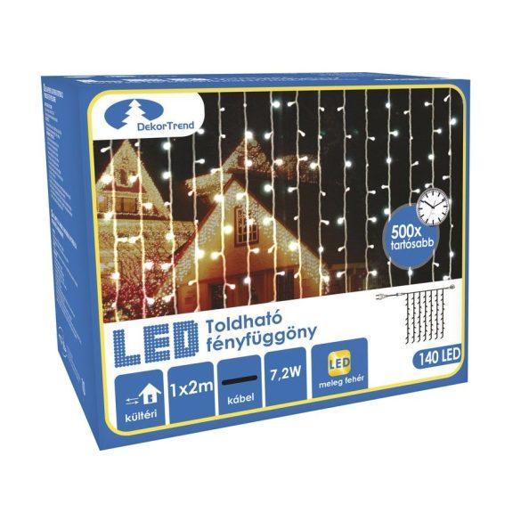 Toldható LED Fényfüggöny