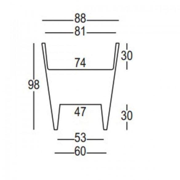 Reverse 88x98 cm