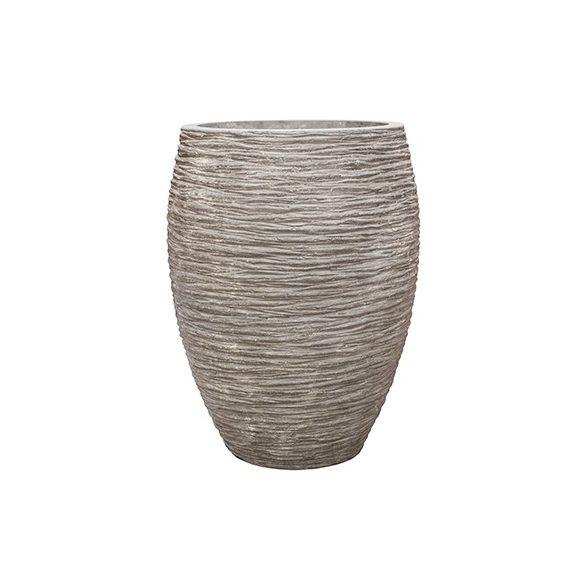 Polystone Coated Digon Raw Grey kaspó Ø70x90 cm