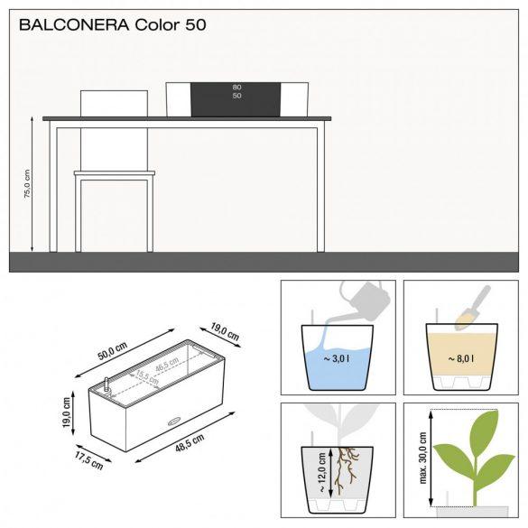 Lechuza Balconera Color 50 cm önöntözővel