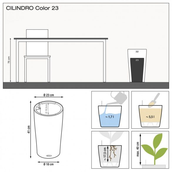 Lechuza CILINDRO Color All-in-One Set