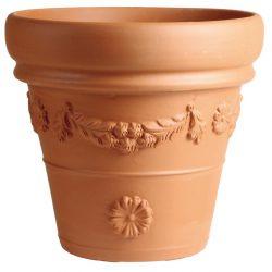 Vaso festonato dekorált agyagcserép