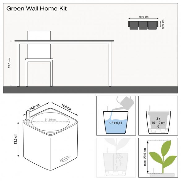 Lechuza Green Wall Home Kit Glossy