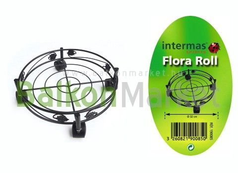 Flora Roll Garden Metal Görgős cserépalátét