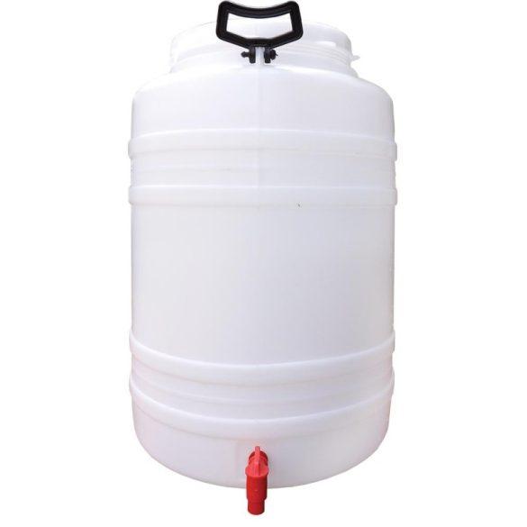 Műanyag hordó csappal 60 Literes