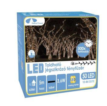 Toldható LED Szikrázó fényfüzér