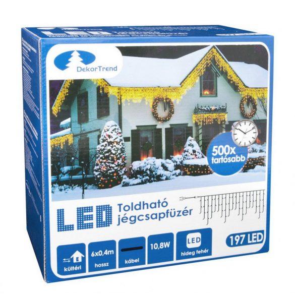 Toldható LED Jégcsapfüzér