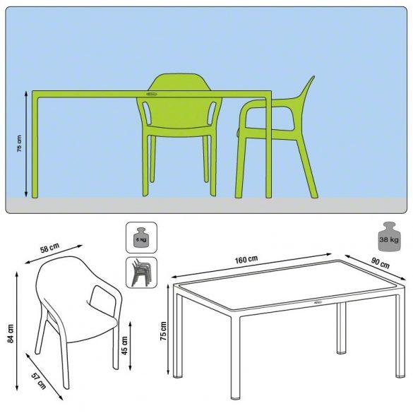 Lechuza kerti bútorcsalád két méretben