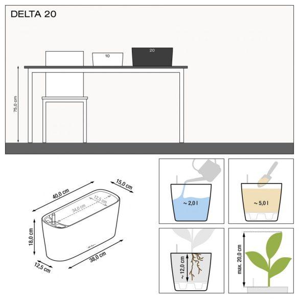 Lechuza Delta 20 Premium önöntözővel