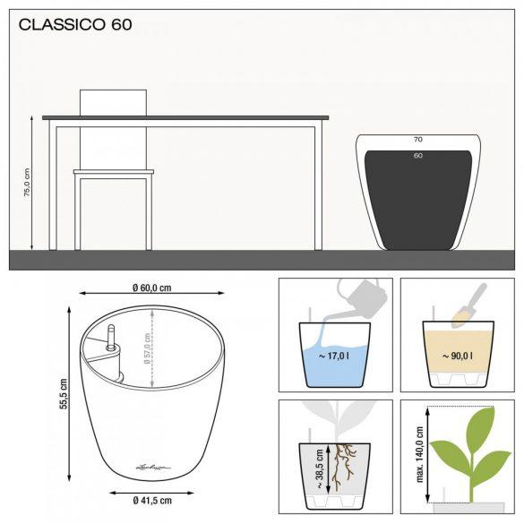 Lechuza Classico Color Matt Önöntöző készlettel 4 méretben