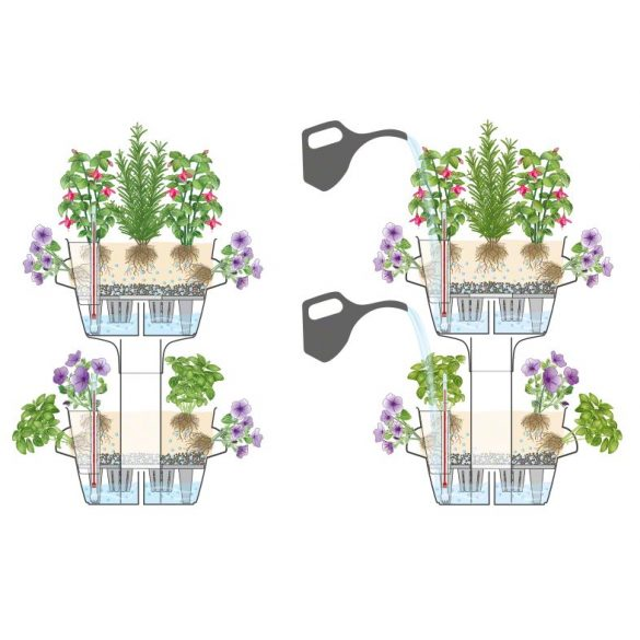 Lechuza Cascada kétrészes virágtorony önöntöző készlettel