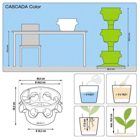 Lechuza Cascada háromrészes virágtorony önöntöző készlettel