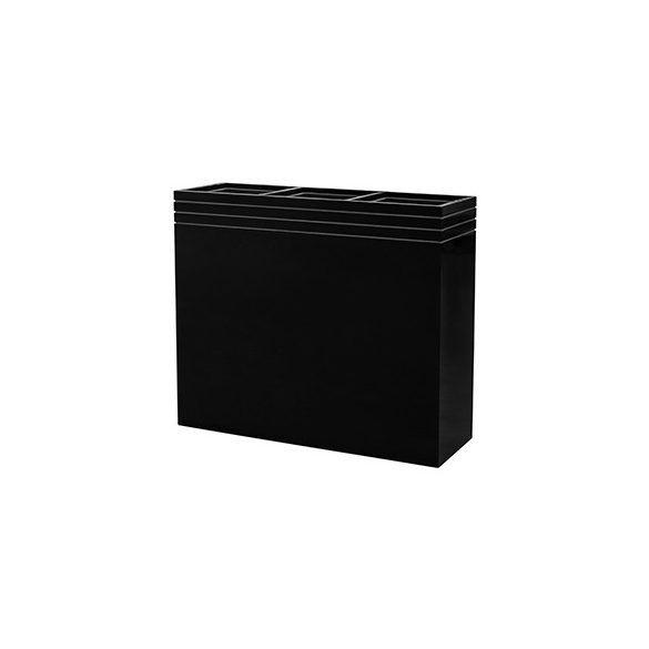 Line-Up Rectangle Planter Matt Black – 3 betéttel