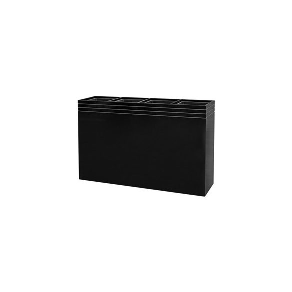 Line-Up Rectangle Planter Matt Black – 4 betéttel