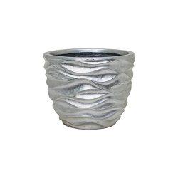 Luxe Lite Glossy Sea silver kaspó