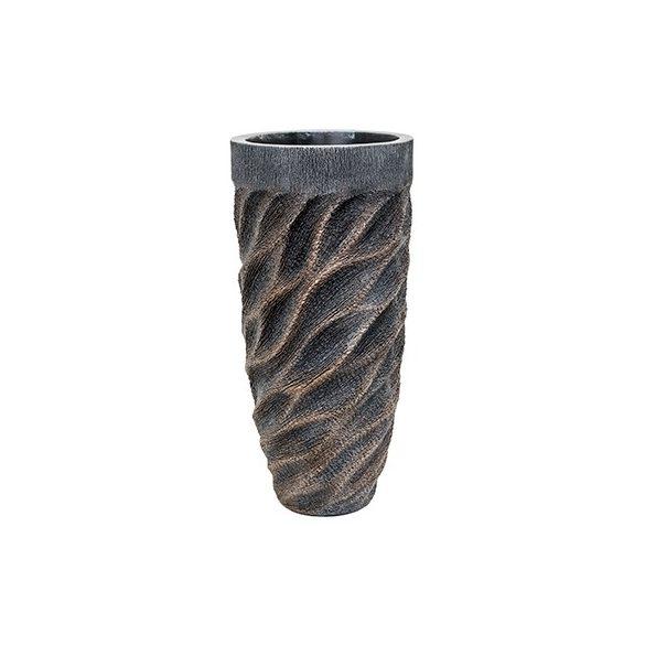 Luxe Lite Universe Wave bronze kaspó