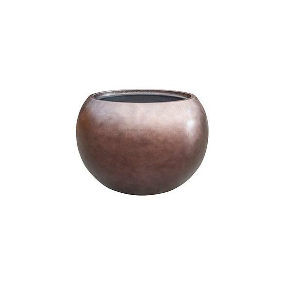 Metallic Globe Matt Coffee kaspó
