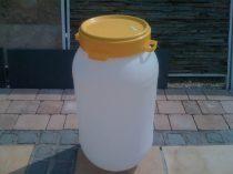 Műanyag hordó menetes tetővel 60 Liter