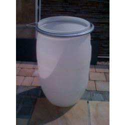 Műanyag hordó  80 Literes Csattal
