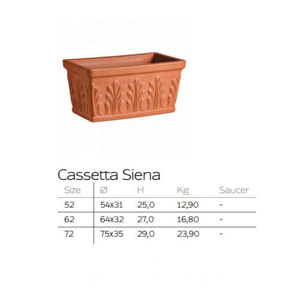 Casetta siena agyag balkonláda 2 méretben