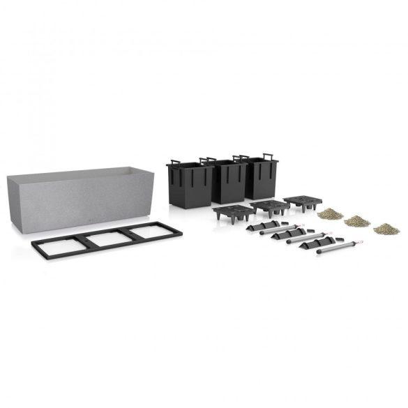 Lechuza TRIO Stone 30 kiemelhető belsővel és önöntöző készlettel